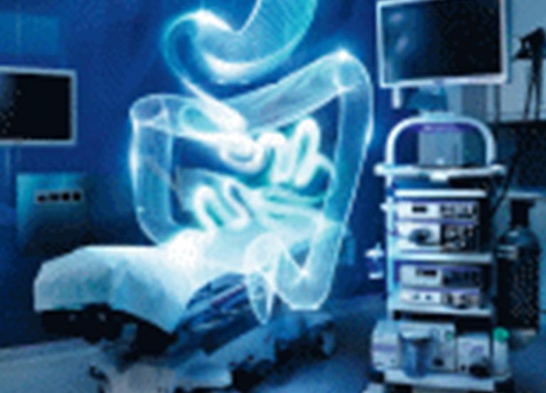 Hologram układu pokarmowego nadłóżkiem